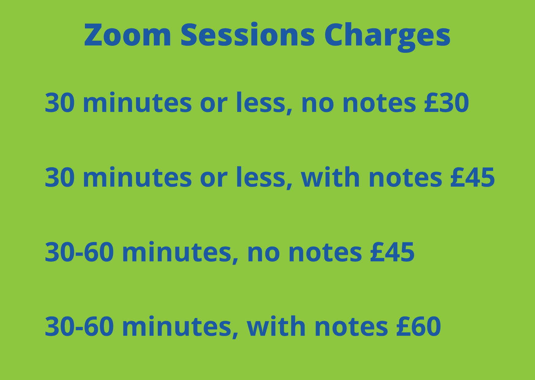 Jigsaw Zoom Charges